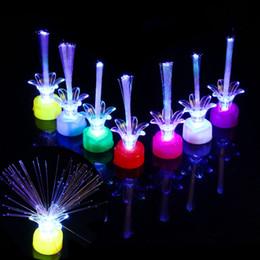 Canada New Light Up Bright changement coloré a conduit clignotant Fibre Optique Lumières Kid's Night Toys cadeau cheap fiber optic light toy Offre