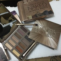 Wholesale Matte Eyeshadow Naked - Naked makeup eyeshadow palettes eye shadow pallet 12 color NUDE 1.2.3 decay Makeup Naked Palettes chocolate bar with