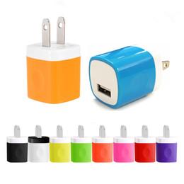 2019 cargos domiciliarios Universal Wall Charger 5V 1A Colorido Home Travel Charger Plug USB Adaptador de carga para iPhone 7 6s Plus Samsung Galaxy S7 S6 Edge