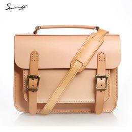 Smirnoff Handmade Classical Women Satchels Bags Custom name Vegetable  tanned Leather Women Messenger Bag Designer Handbag 814b915e1a590