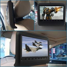 2019 televisores do painel do carro 9 Polegada Universal Headrest Do Carro Monitores LCD Digital AV HD Monitor Com Controle Remoto de 3 Cores Opcional # 3857