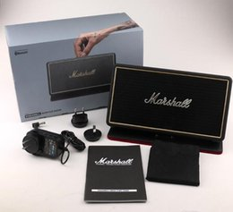 Wholesale Bt Sound Card - Bluetooh marshall Portable Wireless Speaker stockwell Outdoor Support FM Radio Soundbar Music BT Speaker USB Charging