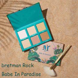 Wholesale Best Matte Eyeshadow - 2018 Lamer X Bretman Rock Babe In Paradise Highlight Eyeshadow Foundation Concealer Shadow Palette Best Becca Waterproof DHL 660292