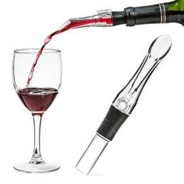 Wholesale portable wine decanter - Acrylic Aerating Pourer Decanter Wine Aerator Spout Pourer New Portable Wine Aerator Pourer Wine Accessories GGA479 50pcs
