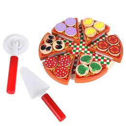 Wholesale Pretend Play Kitchens - Cute Magnetic Pizza Vegetables Pretend Play Reusable Kitchen Role Play Kids Toy Interactive Games Realistic Actions