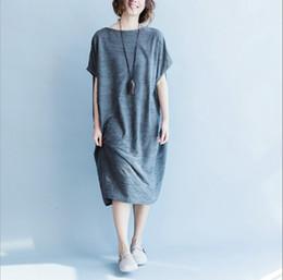 Wholesale Women Cotton Dress Pregnant - Womens Clothes Pregnant Women Casual Loose Dress Comfortable Pregnant Skirts Home Casual Dresses