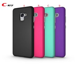Wholesale Dual Phone Case - Hybrid Shockproof TPU PC Hard Case For Samsung Galaxy S9 A8 Plus 2018 Google Pixel 2 XL 2XL Dual Layer Dot Armor Cell Phone Skin Cover 60pcs