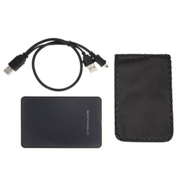 Siyah Harici Muhafaza Sabit Disk Disk USB 2.0 SATA HDD Taşınabilir Durumda 2.5