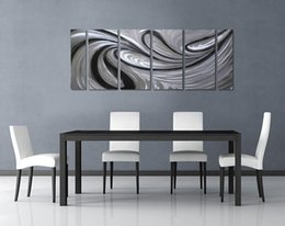 Wholesale Metal Art Oil Painting Abstract - Sea Fire Excellent Metal Aluminum Wall Art Original Large Abstract Painting Modern Contemporary Sculpture Decorative Artwork