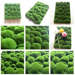 Wholesale Months Stones - 2pcs lot Stone Moss Miniature Dollouse Garden Craft Fairy Bonsai Plant Decor Marimo Stone Artificial Moss Foam Stone 8zca039-3