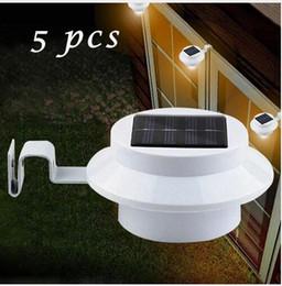 luce solare del recinto del recinto principale Sconti 5 Pack Sun Power Smart LED Solar Gutter Light Utility permanente per case, recinzione Garden Shed Walkways Anywhere Solor PJW