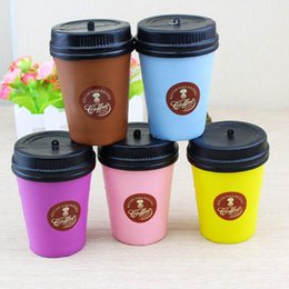 cups roses Promo Codes - Cute Squishy 11cm Coffee Cup Slow Rising Jumbo Simulation Milk Phone Strap Kawaii Pendant Soft Coffee Cup Model Kids Fun Decompression Toys