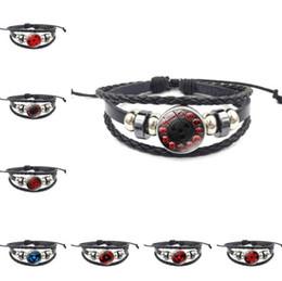 2018 Mode Bracelet En Cuir De Verre Unisexe Réglable Bracelet Noir Bijoux Temps Gem Chaîne Main Tricoté À La Main ? partir de fabricateur