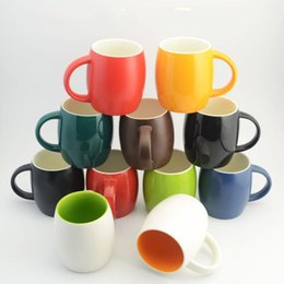 Wholesale Layer Egg - Simple Egg Shape Mugs Single Layer Ceramics Coffee Cup With Handle High Temperature Resistant Tumbler New Arrival 7gd B
