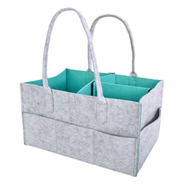Wholesale beds for babies - Multi Function Felt Reticule Portable Organizer Foldable Mommy Baby Diapers Storage Bag For Car Travel High Quality 22mz WW