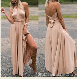 2017 mujeres del verano Sexy vendaje vestidos 19 colores de múltiples vías sin espalda Deep V vestido largo del partido de cintura alta delgado más el tamaño LM-084 desde fabricantes
