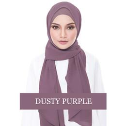 2019 chiffon hijab schals 2018 Muslim Hijab Mütze Chiffon Abaya Jilbab Caps Kopftuch Femme Turban Muslimischer Langer Schal Voile Islamique Turban Eid Geschenk rabatt chiffon hijab schals