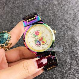 Wholesale female bears - 2018 Women Watches Fashion Cute colorful Bear Quartz Wristwatches Woman Elegant Casual Female Watch Clock For Girls Gift Relogio Feminino
