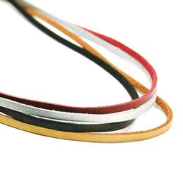 Кружевные ожерелья diy онлайн-Плоские искусственной замши корейский бархат кожаный шнур шнур веревки нити кружева ювелирные изделия выводы для DIY колье ожерелье 100 см 3 мм