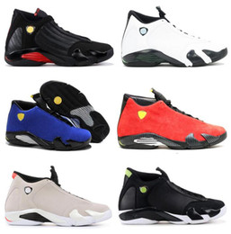 Wholesale yellow sand - High Quality 14 Last Shot Red Blue Suede Black Toe Basketball Shoes Men 14s Desert Sand Oxidized Indiglo Sneakers With Shoes Box