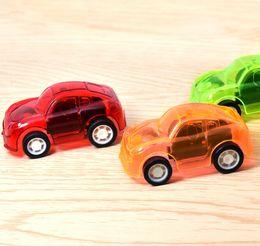 2019 metallguss Kinder Geschenk Candy Farbe Mini zurückziehen Auto Transparent zurückziehen Auto Stand Spielzeug Werbegeschenk kleine Spielzeug