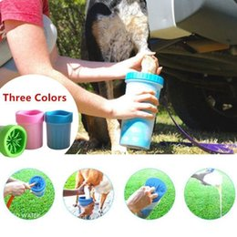 Wholesale Dog Paws - Pet Foot Washer Cup Dog Paw Cleaner Puppy Foot Wash Tools Soft Gentle Silicone Bristles Pet Brush Quickly Clean Paws Muddy Feet BBA280