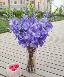 2019 orquídeas artificiais únicas flores Única simulação 8 cores de seda artificial planta orquídea flor organizando arte para sala de estar adorno direção TH016 orquídeas artificiais únicas flores barato