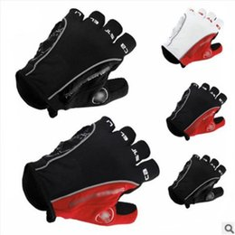 Wholesale Organic Cotton Gloves - Bicycle Gloves Non Slip Anti Skid Soft Breathable Lycra Guantes Ciclismo Sports Mountain Bike Finger GEL Pad Cycling Half 25ww V