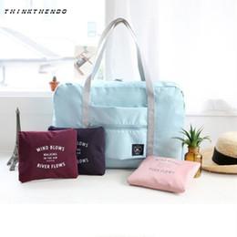 большие сумки для багажа нейлон Скидка Fashion Women Travel Luggage Bag Big Capacity Folding Carry-on Duffle Bag Foldable Nylon Zipper WaterProof Travel Portable