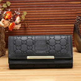 Wholesale Womens Purse Wallets Branded - Hot Sell Wholesale and Retail 2017 New PU Leather Mens and Womens Luxury Brand Wallets Purse Card Holders (5 color for pick) Guc Handbags
