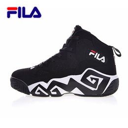 Wholesale Synthetic Shoes - 2018 New arrival Fila Men Women Basketball Running Shoes White Black red Outdoor Sneaker sports size 36-44