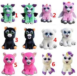 juguetes de navidad mono Rebajas 20 cm One Second Change Face Feisty Pets Animal felpa juguetes de dibujos animados mono Unicornio de peluche de juguete para el bebé regalos de Navidad T1I225