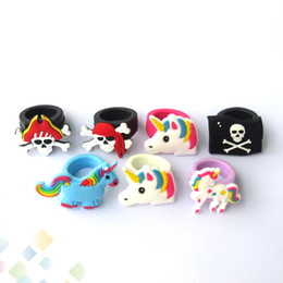 Anillos de belleza vape online-Silicone Vape Band Beauty Cartoon Decorative Ring Colorful Silicon Rings Fit All above 18mm Mods RDA RTA RDTA Atomizadores DHL Gratis