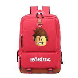 Bandas de juegos online-Roblox Printing Games School Bag Rock Band Mochila para adolescentes Mochila para estudiantes Notebook Mochila diaria Leisure Computer Bag