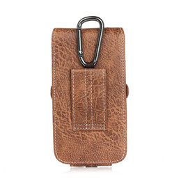 Wholesale Note Holster Wallet - for iPhone 7 Plus Holster PU Leather Holster Belt Card Cell Phone Case with Buckle for iPhone 8 Samsung Note 8 and More Phone under 6.3 inch