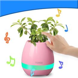 bluetooth luz led inteligente Rebajas Nuevo Creative LED Light USB Florero inteligente Ollas Floreros iluminados Altavoz Bluetooth Music Flower Pot Fácil de usar Alta calidad 60 aa