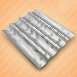 Wholesale groove cleaner - 4 Groove Wave Baking Mould Easy To Clean Carbon Steel French Bread Baking Tray High Hardness Mold Durable 13ky X