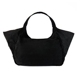 bolso de gamuza negra Rebajas Al por mayor-2016 nuevas mujeres bolsos de hombro bolsos de gamuza femenina de gran capacidad señoras bolsa de asas negro bolsa de hombro grande bolsos sac a principal