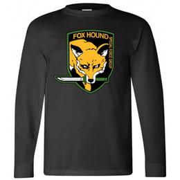 Chemises à engrenages métalliques en Ligne-Nouveau FOXHOUND T-shirt Noir à manches longues Solid Force Special Metal Solid Taille S-3XL