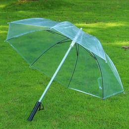 Прямой ручка для дождя онлайн-LED Umbrella adult umbrella rain women men Light Flash Night Protection Straight Handle Stick Rain Umbrell Transparent