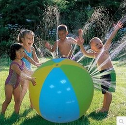 Wholesale Inflatable Pvc Ball - Inflatable Beach Water Ball Outdoor Sprinkler Summer Inflatable Water Spray Balloon Outdoors Play In The Water Beach Ball KKA1473 free ship