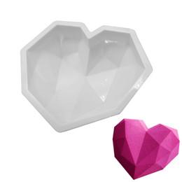 molde de silicone diamante Desconto Diamante Amor de Forma de Mousse de Molde Resistente ao Calor Molde do Bolo do Silicone Resuable de Chocolate, de Açúcar de Cozinha, Ferramentas de Cozimento de Alta Qualidade 16 8hc XY