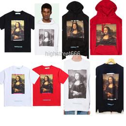 Wholesale Women Oversize T Shirt - 2018 famous brand Popular trend Mona Lisa head portrait printing T-Shirts Fleece hoodie Men and women TEE OVERSIZE unisex coat