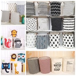 Wholesale Dirty Clothes Storage - Ins Storage Baskets 40*50cm Dirty Clothes Laundry Basket Bins Kids Room Toys Storage Bags Bucket Clothing Organization OOA4325