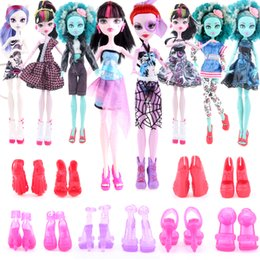 Wholesale Cheapest Clothes - Cheapest! 10 items 5 Suit Clothes + 5 Pair Shoes Wizard Dolls High Accessories Fashion Clothes for Original Wizard Dolls