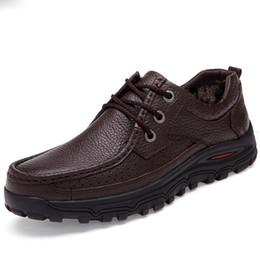 Botas confortáveis wedge tornozelo on-line-Homens de couro Genuíno quente botas tamanho grande 48 botas de inverno da moda, ankle boots confortáveis homens sapatos, botas de neve de qualidade