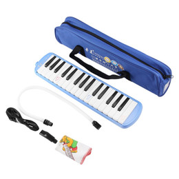 Wholesale Gifts For Music Lovers - Blue Melodica 32 Piano Keys Melodica with Carrying Bag Harmonica Musical Instrument for Music Lovers Beginners Gift Wholesale
