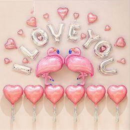 Wholesale Cheap Wholesale Coats - Flamingo Balloon Creative Letter Aluminum Film Romantic Wedding Festival Children Kid Adult Toy Gift Decoration Most Cheap 27gx V