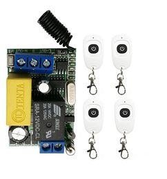 2019 récepteur émetteur rf 1ch AC220V 1CH RF sans fil Mini relais relais récepteur télécommandes pour interrupteur de lumière avec émetteur / lampe étanche blanc récepteur émetteur rf 1ch pas cher