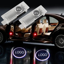 Wholesale door light projector audi - 2pcs Car Door Welcome Light Laser Car Door Shadow Projector Logo light LED For AUDI A3 A4 b6 b8 A5 A6 c5 A7 A8 R8 Q5 Q7
